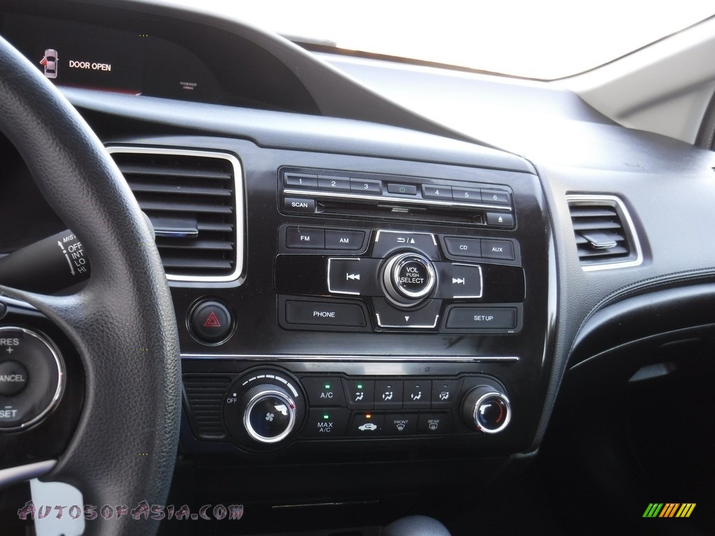 2013 Civic LX Sedan - Polished Metal Metallic / Black photo #12