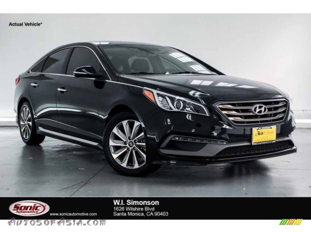 2017 Sonata Sport - Phantom Black / Black photo #1