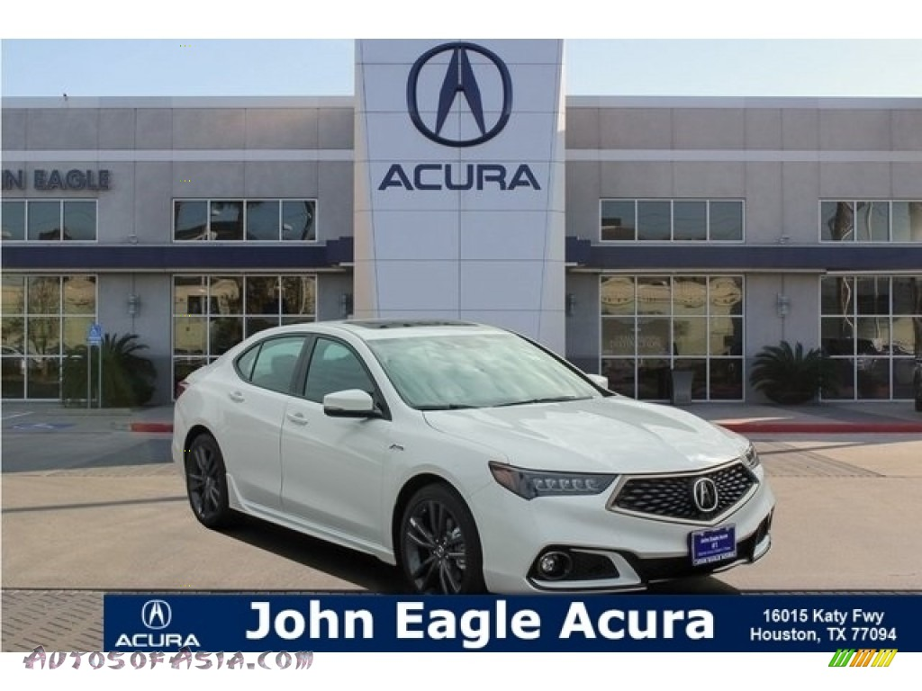 Platinum White Pearl / Ebony Acura TLX A-Spec Sedan
