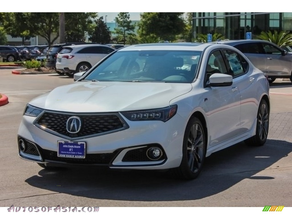 2019 TLX A-Spec Sedan - Platinum White Pearl / Ebony photo #3