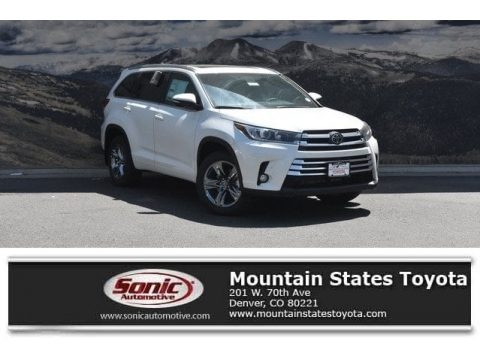Blizzard White Pearl 2018 Toyota Highlander Limited AWD