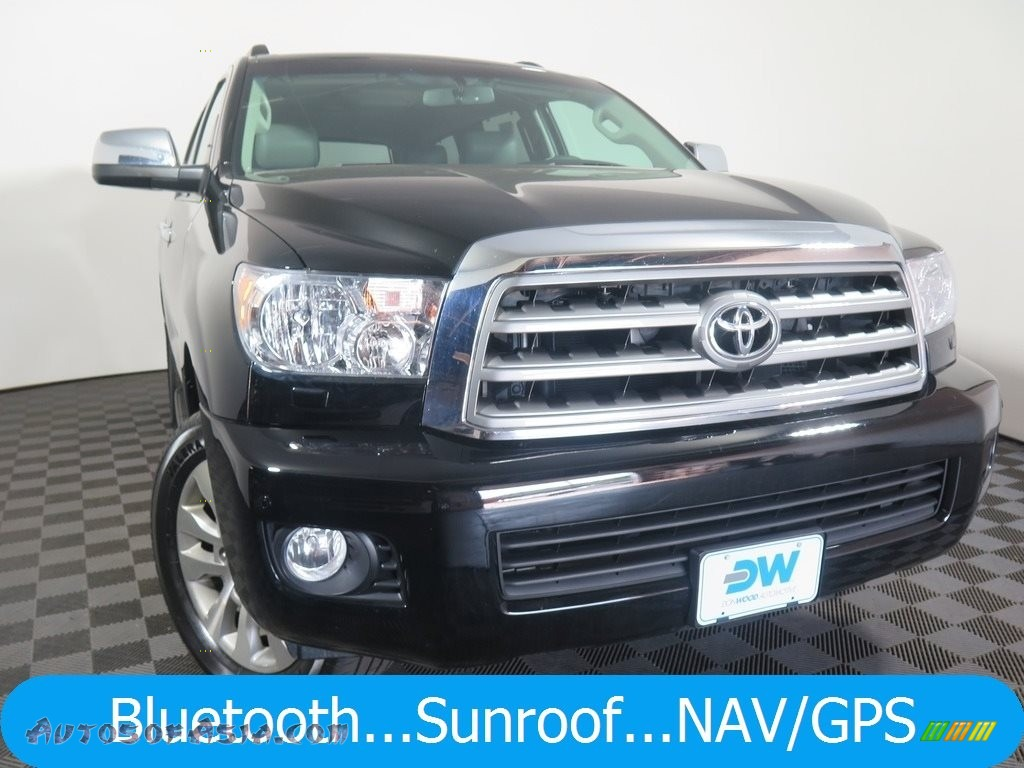 2015 Sequoia Limited 4x4 - Black / Gray photo #1