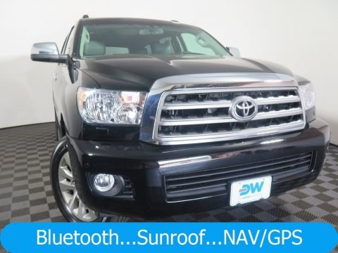 Black 2015 Toyota Sequoia Limited 4x4