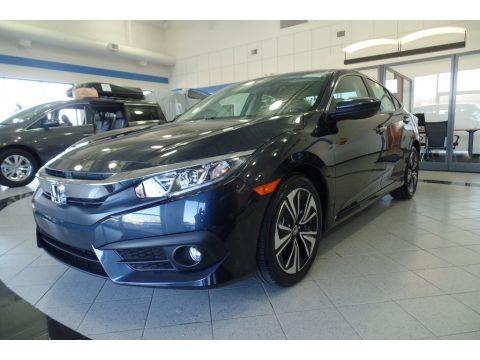 Cosmic Blue Metallic 2018 Honda Civic EX-T Sedan