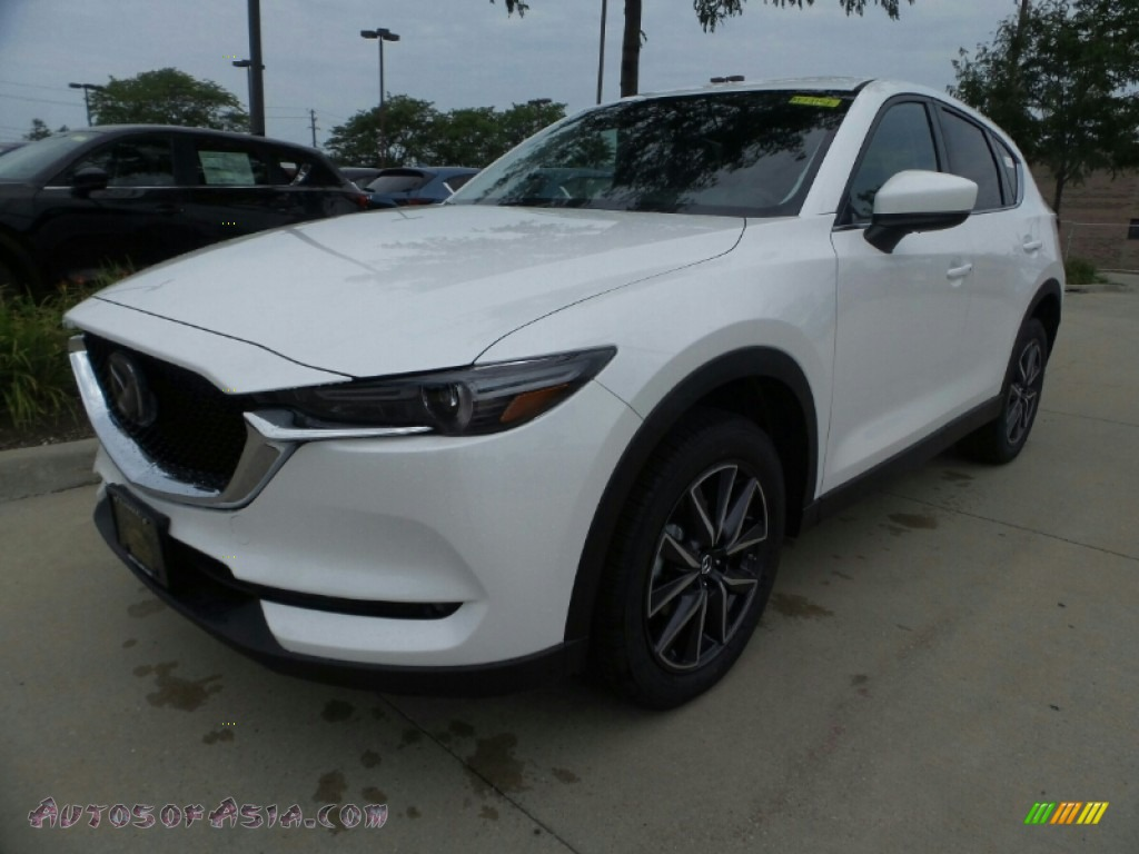 2018 CX-5 Grand Touring AWD - Snowflake White Pearl Mica / Black photo #1
