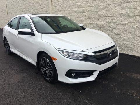 White Orchid Pearl 2018 Honda Civic EX-T Sedan