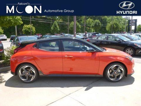 Sunset Orange 2019 Hyundai Veloster Turbo Ultimate
