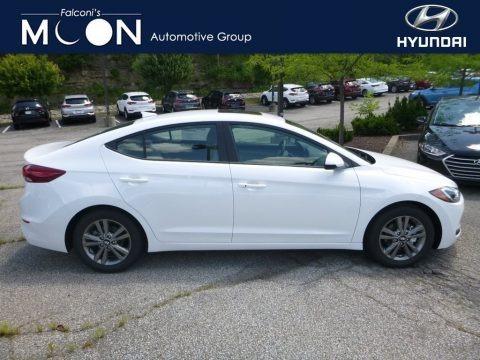 Quartz White Pearl 2018 Hyundai Elantra Value Edition
