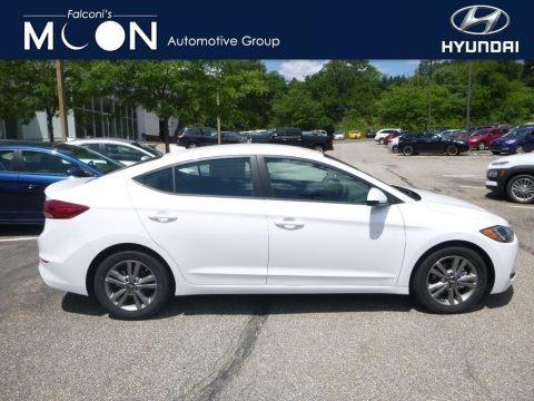 Quartz White Pearl 2018 Hyundai Elantra SEL
