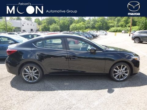 Jet Black Mica 2018 Mazda MAZDA3 Grand Touring 4 Door