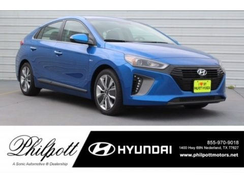 Electric Blue Metallic 2018 Hyundai Ioniq Hybrid Limited