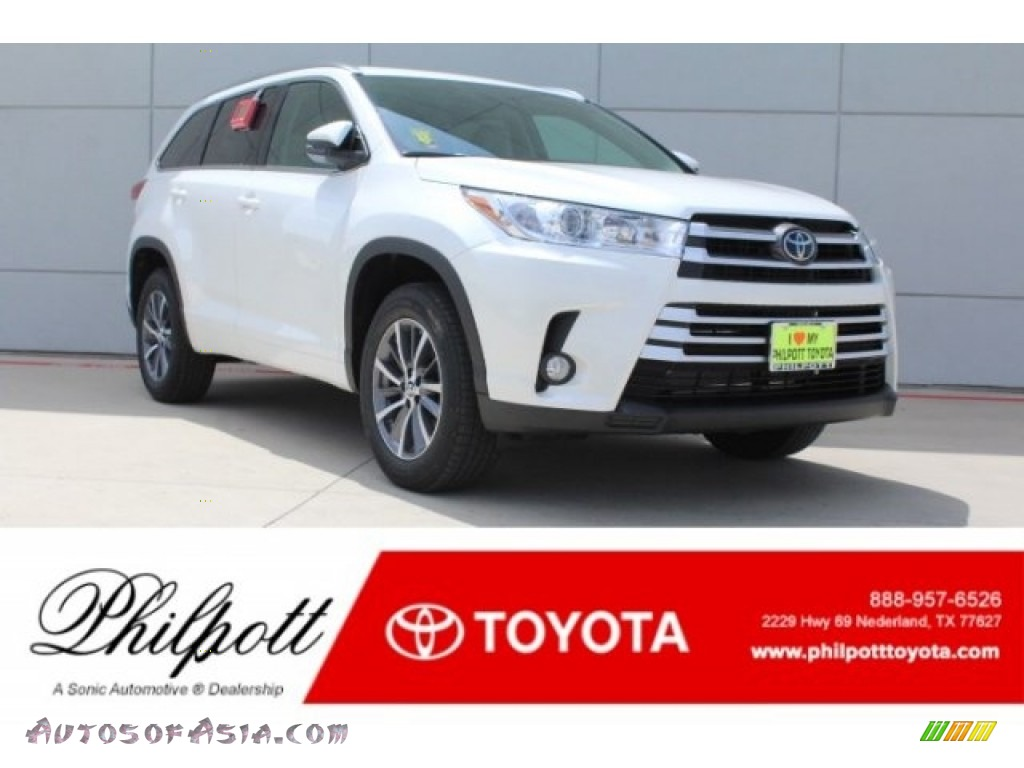 2018 Highlander XLE - Blizzard White Pearl / Ash photo #1