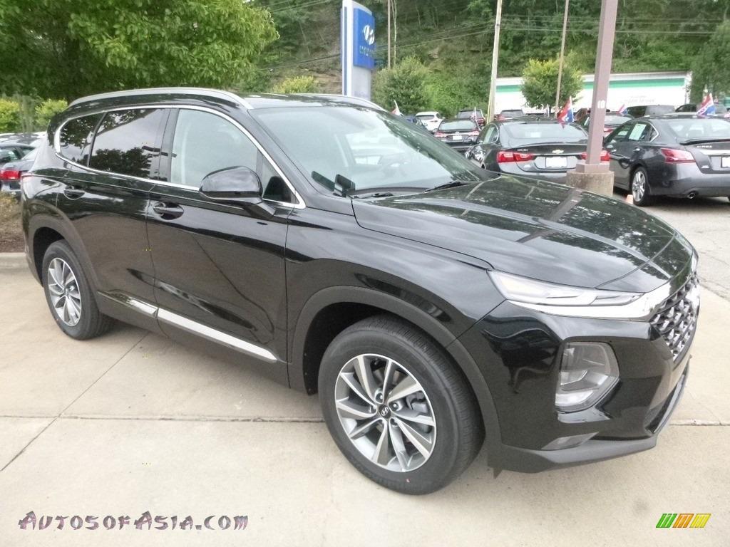 2019 Santa Fe SEL Plus AWD - Twilight Black / Black photo #3