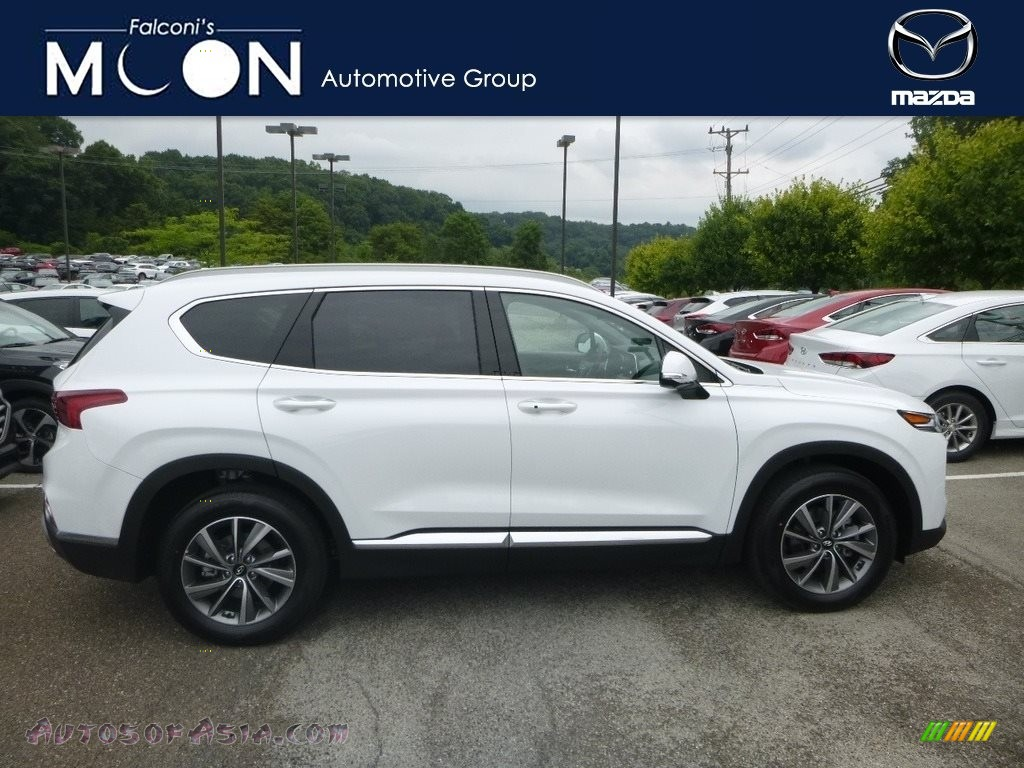 Quartz White / Espresso/Gray Hyundai Santa Fe Ultimate AWD