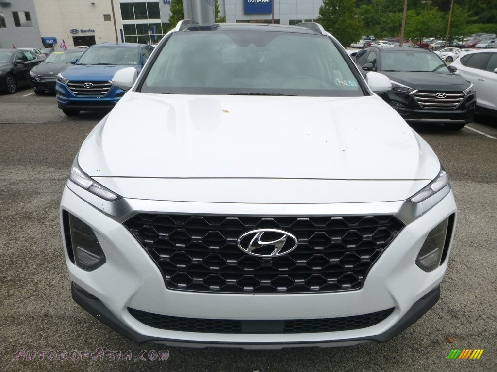 2019 Santa Fe Ultimate AWD - Quartz White / Espresso/Gray photo #4