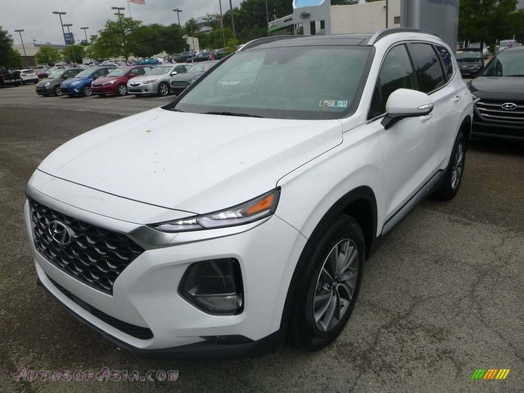 2019 Santa Fe Ultimate AWD - Quartz White / Espresso/Gray photo #5