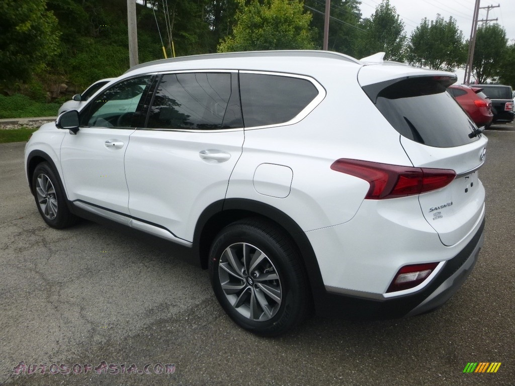 2019 Santa Fe Ultimate AWD - Quartz White / Espresso/Gray photo #6