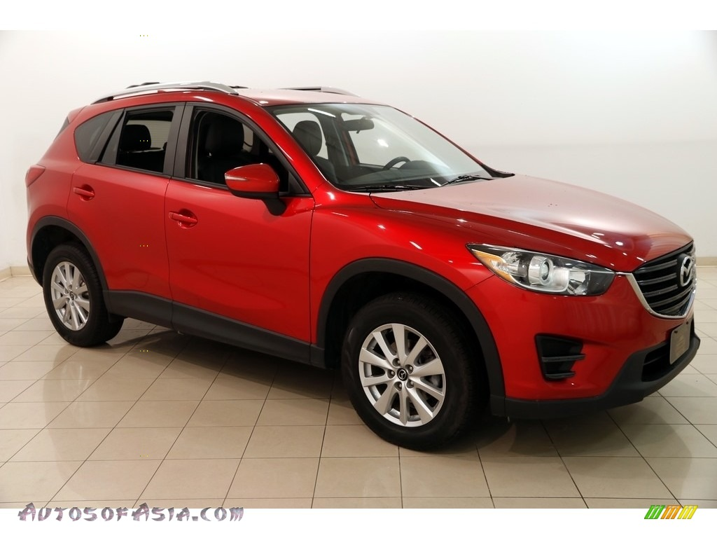 2016 CX-5 Sport AWD - Soul Red Metallic / Black photo #1