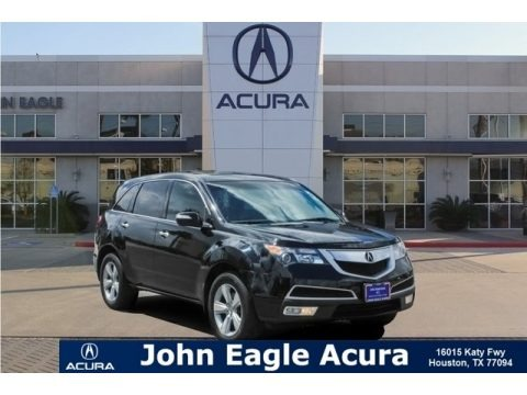 Crystal Black Pearl 2010 Acura MDX Technology