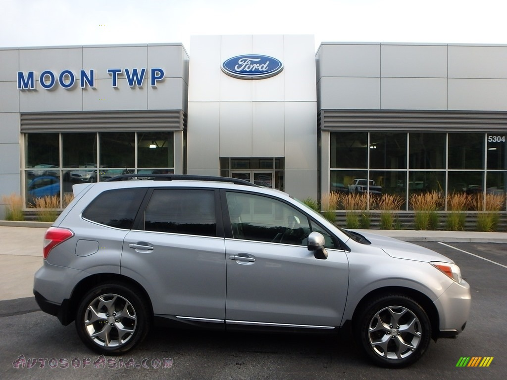 2015 Forester 2.5i Touring - Ice Silver Metallic / Black photo #1