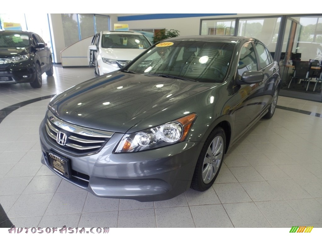 2011 Accord EX-L Sedan - Polished Metal Metallic / Black photo #1