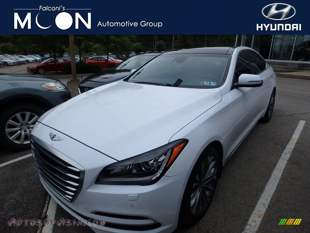 2015 Genesis 3.8 Sedan - Casablanca White / Black photo #1