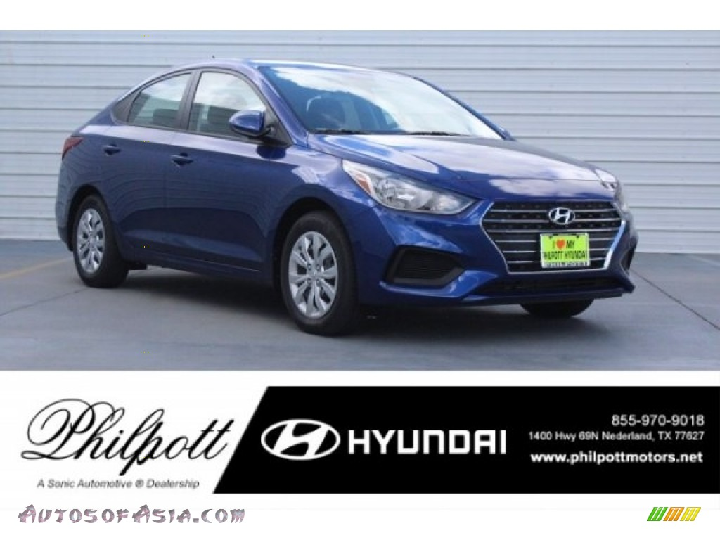 2019 Accent Limited - Admiral Blue Pearl / Black photo #1