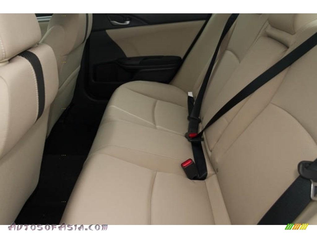 2018 Civic EX Sedan - Crystal Black Pearl / Black/Ivory photo #18