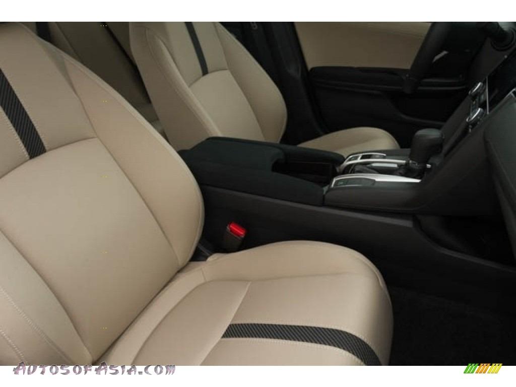 2018 Civic EX Sedan - Crystal Black Pearl / Black/Ivory photo #33