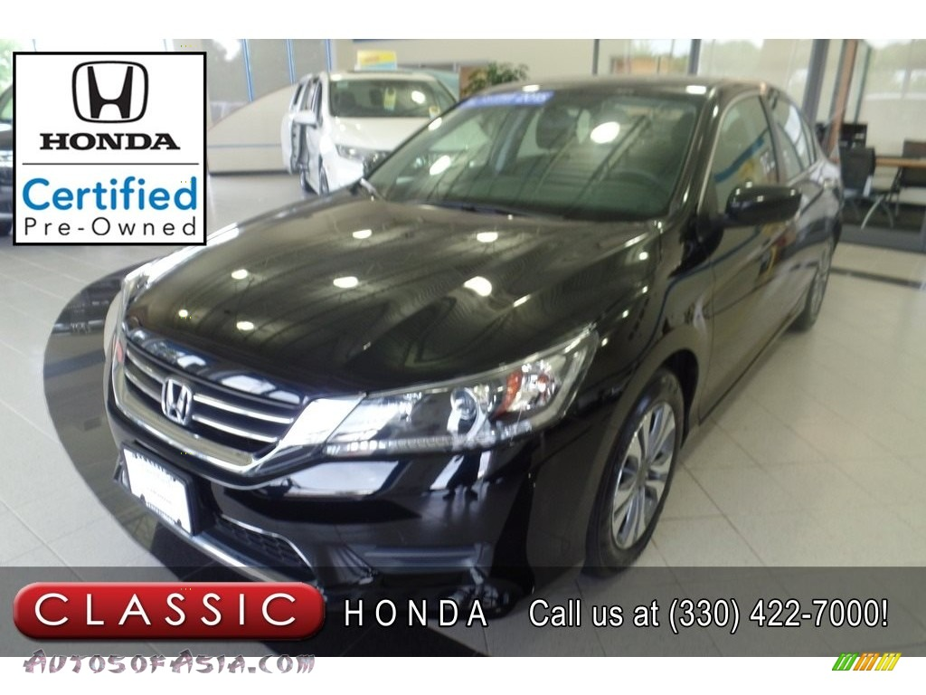 2015 Accord LX Sedan - Crystal Black Pearl / Black photo #1