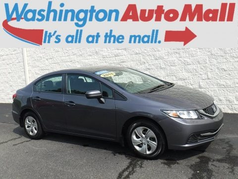 Modern Steel Metallic 2015 Honda Civic LX Sedan