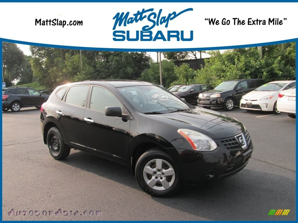 2010 Rogue S AWD - Wicked Black / Black photo #1