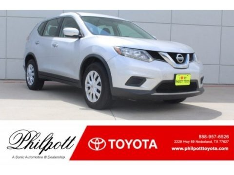 Brilliant Silver 2014 Nissan Rogue S AWD