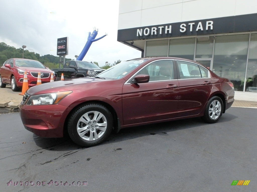 2010 Accord LX-P Sedan - Basque Red Pearl / Ivory photo #1