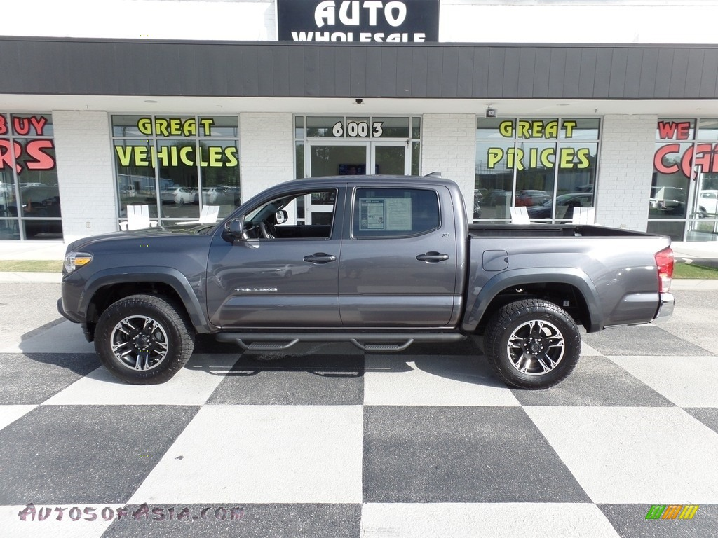 2017 Tacoma SR5 Double Cab - Magnetic Gray Metallic / TRD Graphite photo #1