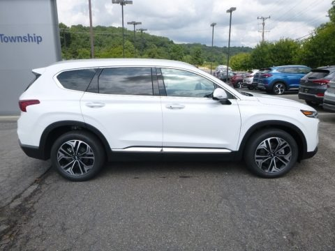Quartz White 2019 Hyundai Santa Fe Ultimate AWD