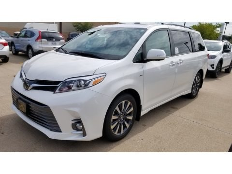 Blizzard Pearl White 2019 Toyota Sienna Limited AWD