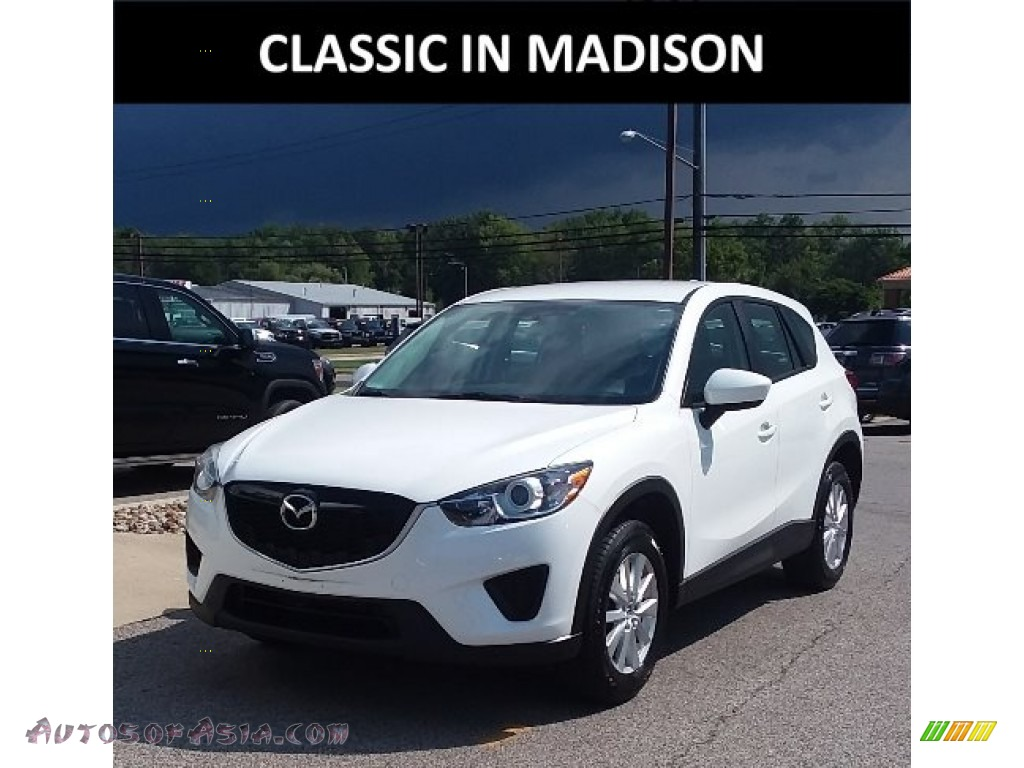 2014 CX-5 Sport AWD - Crystal White Pearl Mica / Black photo #1