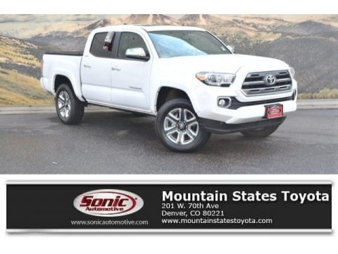 Super White 2017 Toyota Tacoma Limited Double Cab 4x4
