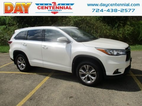 Blizzard Pearl White 2015 Toyota Highlander XLE AWD