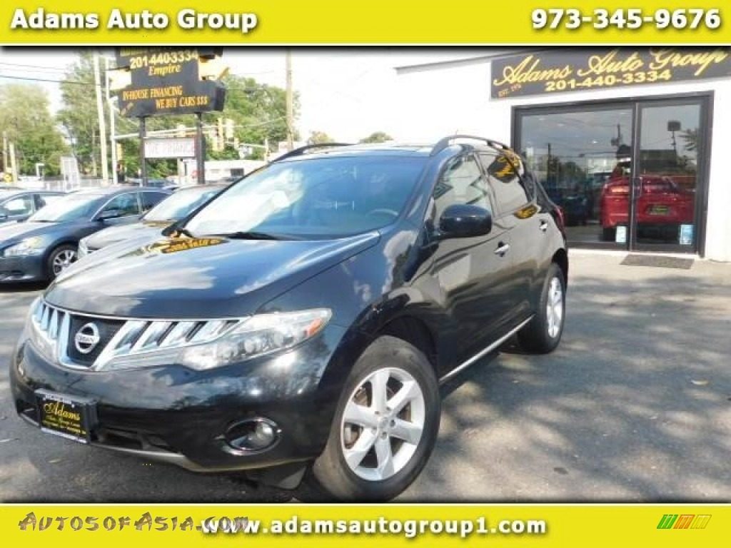 2009 Murano S AWD - Super Black / Black photo #1