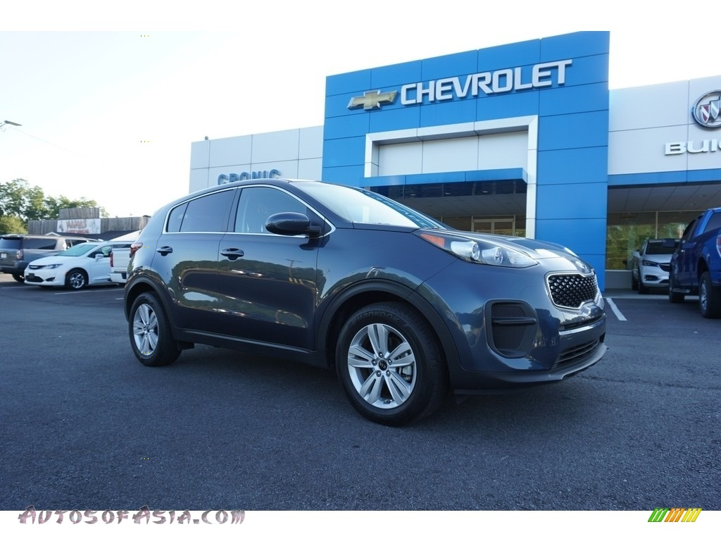 2017 Sportage LX - Pacific Blue / Black photo #1