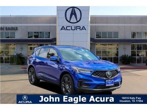 Apex Blue Pearl 2019 Acura RDX Advance