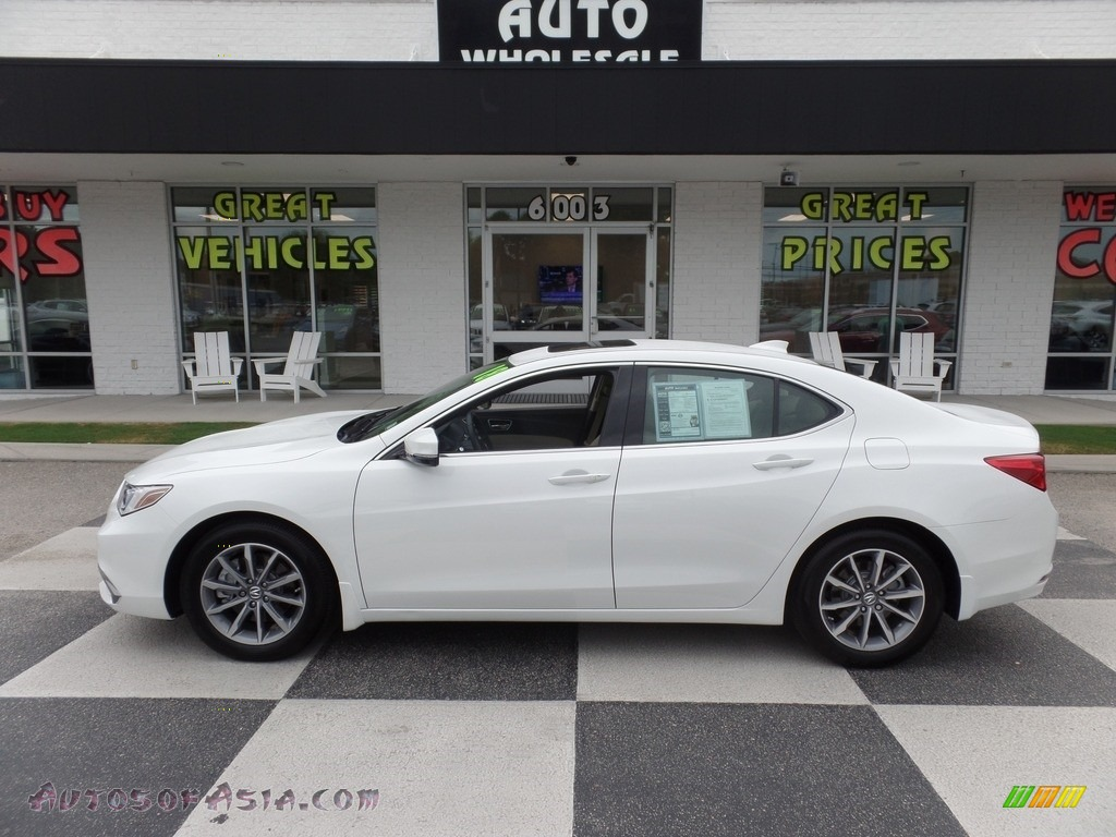 2018 TLX Sedan - Bellanova White Pearl / Parchment photo #1