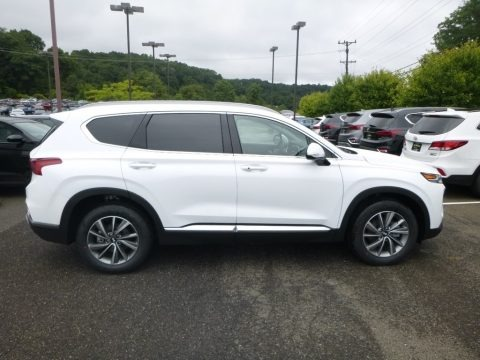 Quartz White 2019 Hyundai Santa Fe Limited AWD