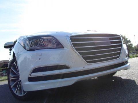 Casablanca White 2015 Hyundai Genesis 3.8 Sedan