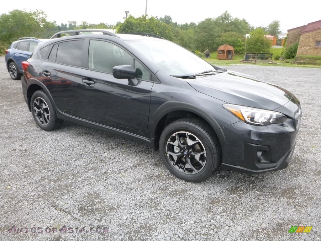 2019 Crosstrek 2.0i Premium - Dark Gray Metallic / Black photo #1
