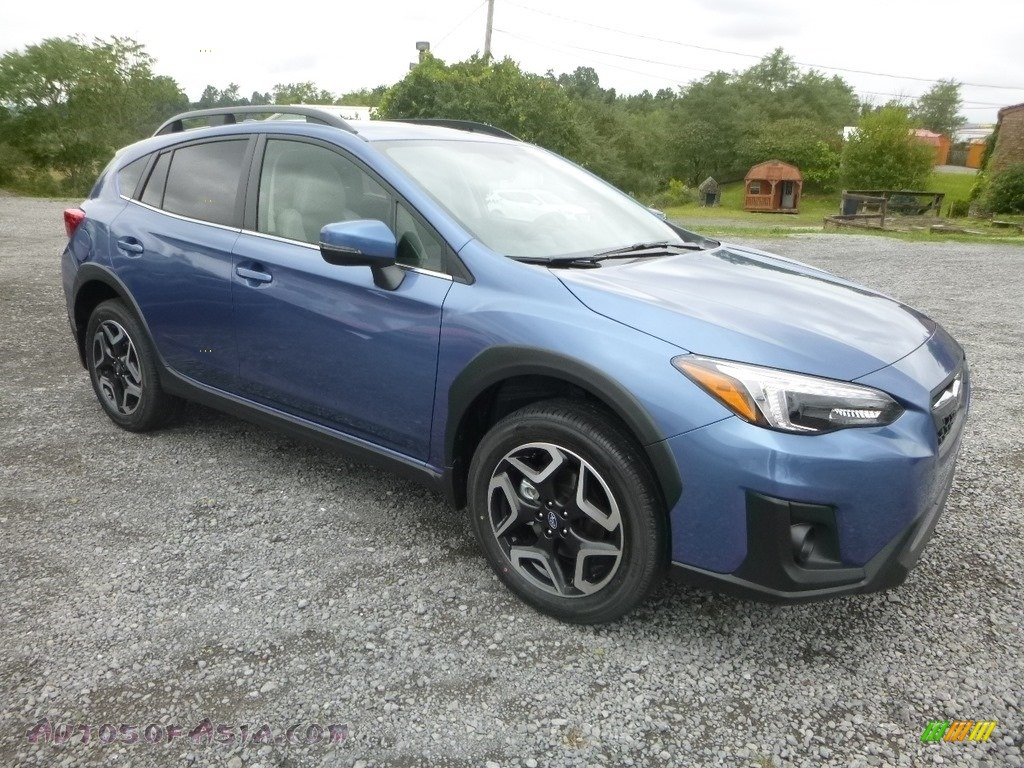 2019 Crosstrek 2.0i Limited - Quartz Blue Pearl / Gray photo #1
