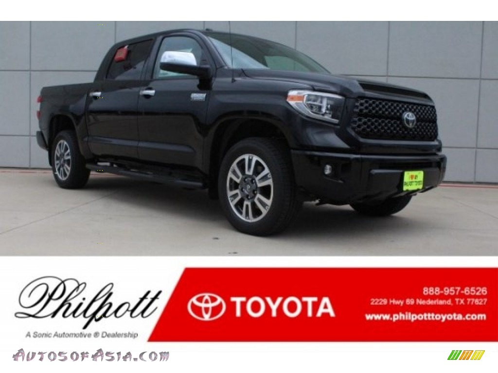 2019 Tundra Platinum CrewMax 4x4 - Midnight Black Metallic / Black photo #1