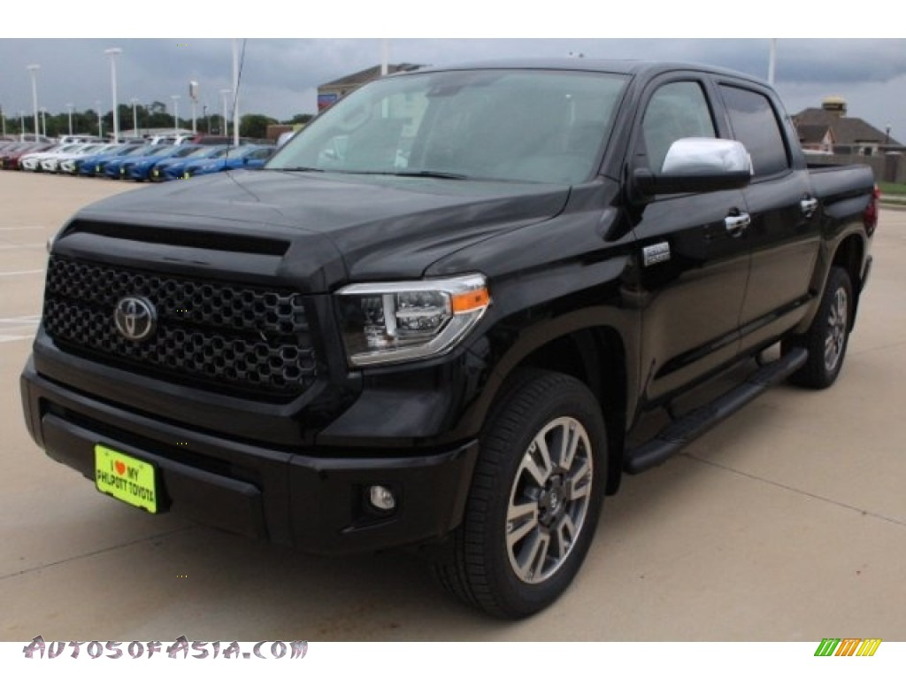 2019 Tundra Platinum CrewMax 4x4 - Midnight Black Metallic / Black photo #3